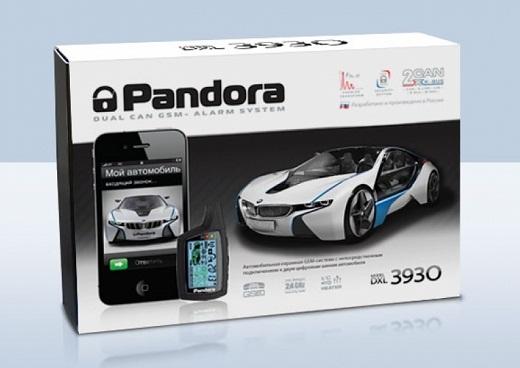 На снимке представлена охранная сигнализация «Pandora DXL 3930»