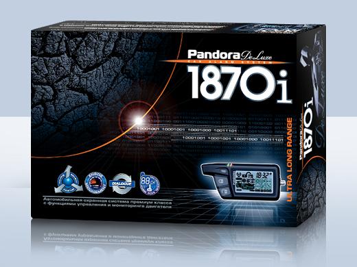 На фото представлена охранная автосигнализация премиум класса «PandoraDeLuxe 1870i»