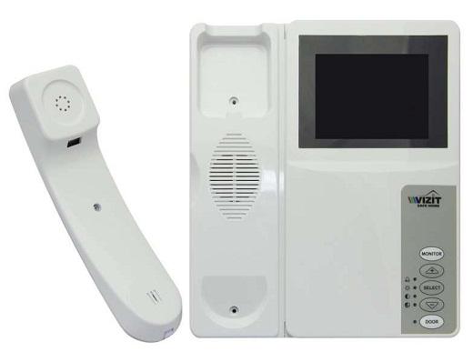 На снимке представлен монитор видеодомофона «Vizit»