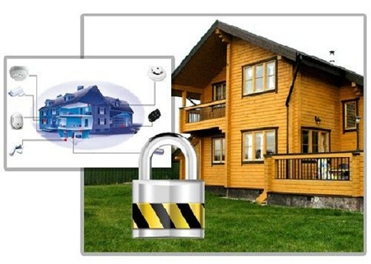 На рисунке схема устройства охранной сигнализации на даче