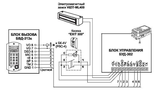 Схема подключения домофона в многоквартирном доме на рисунке