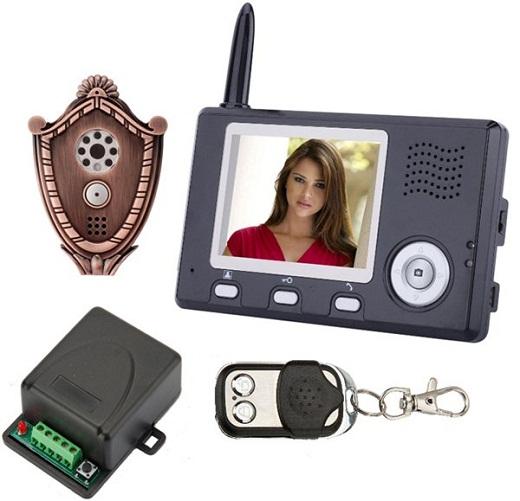 На снимке представлен комплект беспроводного видеодомофона JMK JK WS-D2400.