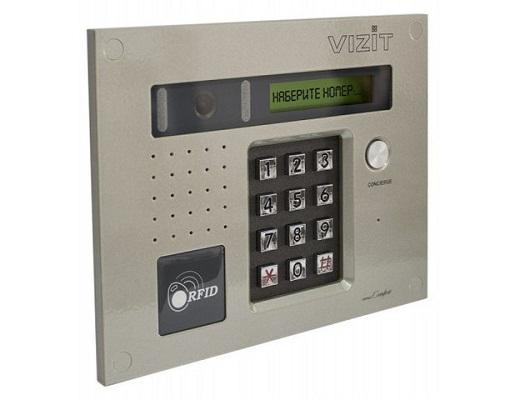 На фото представлен видеодомофон «Vizit» серии BVD-432RCB многоабонентского типа, для установки в многоквартирном доме