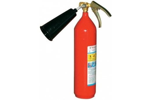 На фото представлен огнетушитель углекислотный УО-2