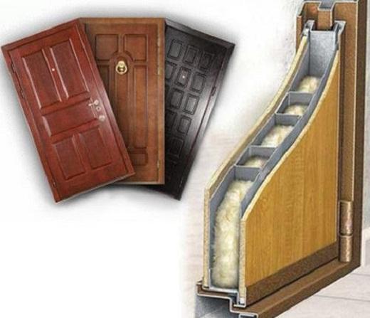 На рисунке шумоизоляционные двери