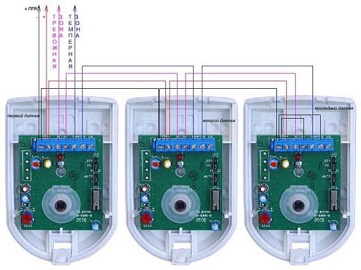 На фото схема подключения датчиков на фото
