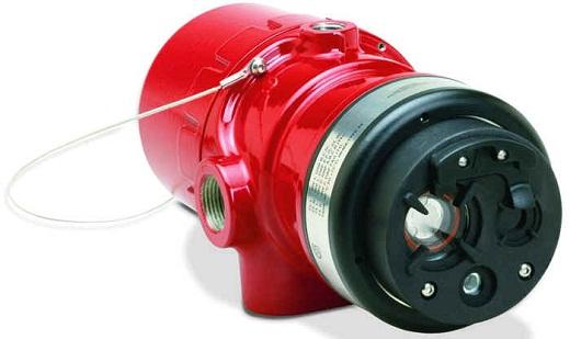 Ультрафиолетовый датчик пламени пожарной сигнализации на фото