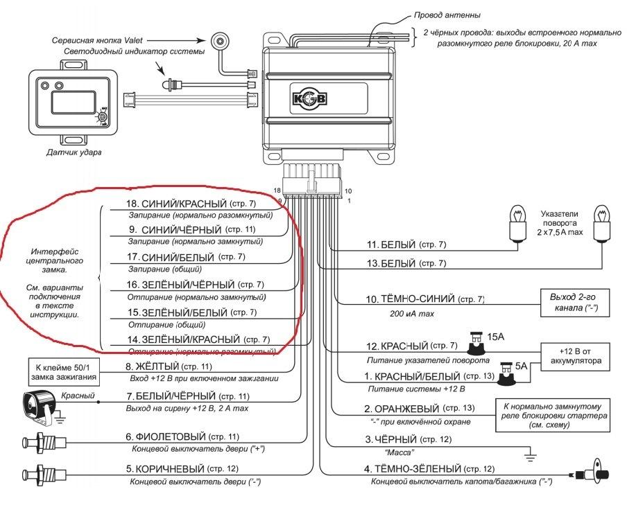 Сигнализация KGB TFX-3 (FX-3): инструкция по установке и применению, эксплуатации и монтажу